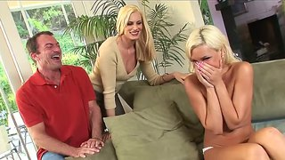 Hard, Bj, Driesaam, Blond