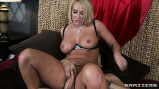 Bj, Hard, Vrou, Blond, Milf