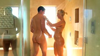 Blond, Massering, Bj, Oraal, Hand Job